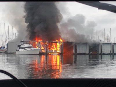 Fire at Port of Everett