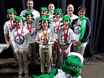 NCA Robogators Teams Win Awards at State Championship