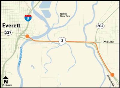 Weekend closures westbound US 2